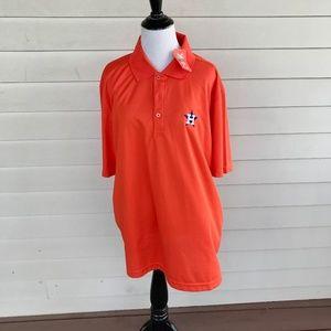 Houston Astros Orange Knit Polo Shirt Sz XL NWT